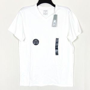 Apt. 9 Men's V-Neck Tee White Short Sleeve Medium